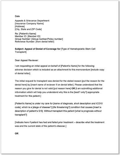 sample standard medicare appeal letter template thumbnail - Medical Appeal Letters